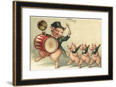 Celebrating Pigs--Framed Giclee Print