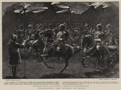 Celebrating the Jubilee in India-John Charlton-Giclee Print