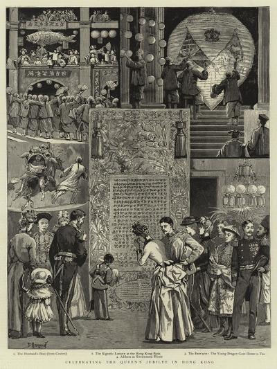 Celebrating the Queen's Jubilee in Hong Kong--Giclee Print