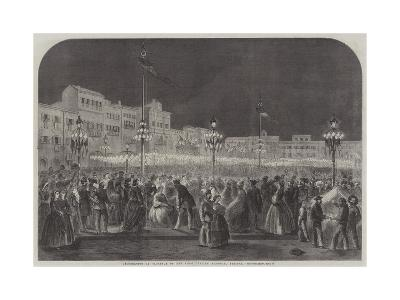 Celebration at Florence of the First Italian National Festival--Giclee Print