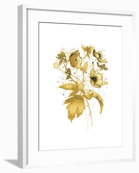 Celebration d or II with Gray-Shirley Novak-Framed Art Print