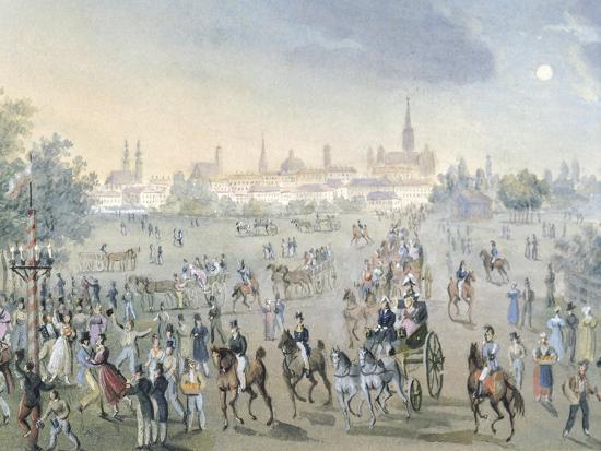 Celebration for Church Consecration in Brigittenau in Vienna, Ca 1820-Francois Gerard-Giclee Print