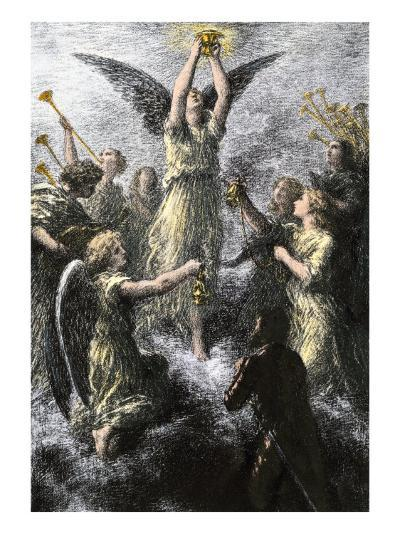 """Celebration of Angels in the Prelude to Wagner's """"Lohengrin""""--Giclee Print"""