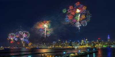 Celebration of Independence Day in Nyc-Hua Zhu-Photographic Print