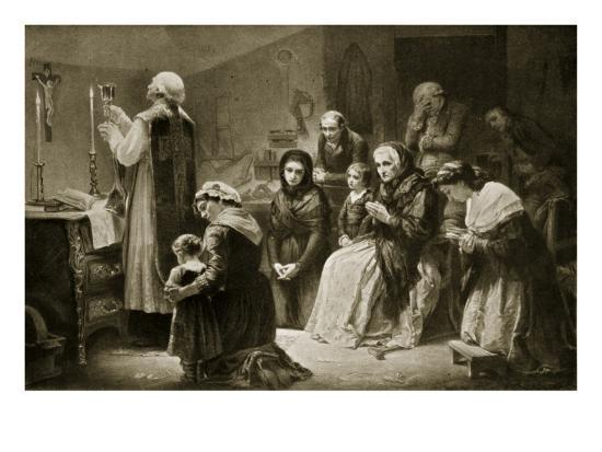 Celebration of Mass During the French Revolution-Charles Louis Lucien Muller-Giclee Print