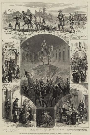 Celebration of the Centenary of the Emperor Joseph II in Vienna--Giclee Print