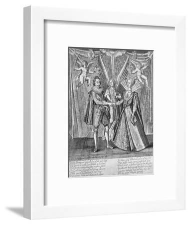 Celebration of the Marriage of James VI of Scotland and Anne of Denmark, 1589 (c1610-1625)-Francis Delaram-Framed Giclee Print