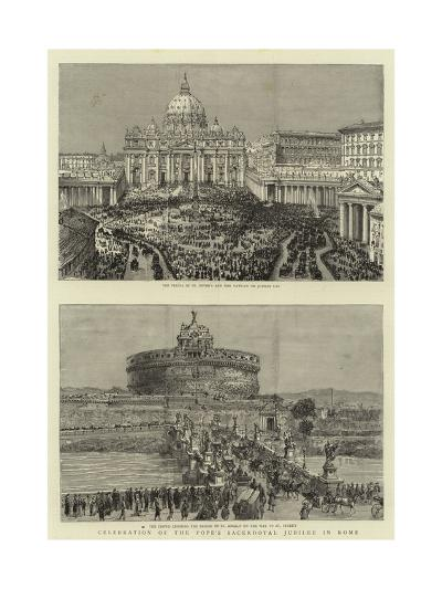 Celebration of the Pope's Sacerdotal Jubilee in Rome--Giclee Print