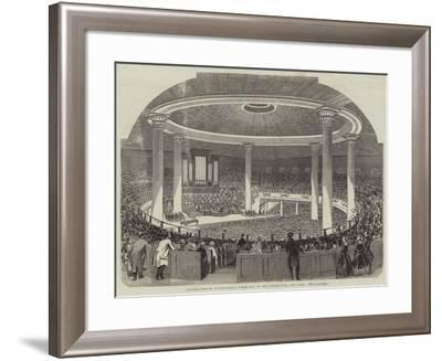 Celebration of Washington's Birth Day, in the Tabernacle, New York--Framed Giclee Print