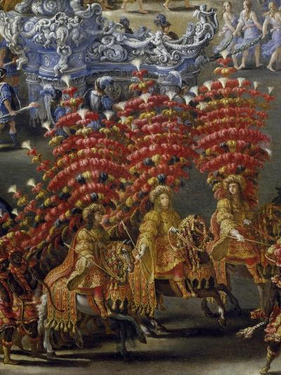 Celebrations at Palazzo Barberini in Honor of Queen Christine of Sweden's Arrival in Rome in 1656--Giclee Print
