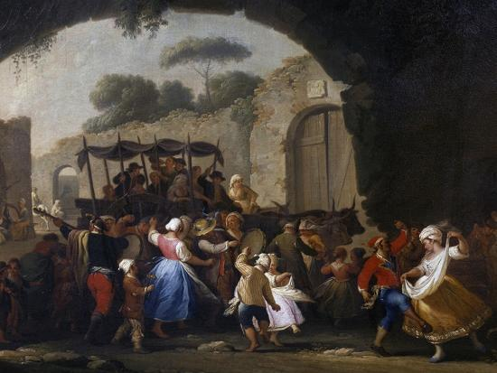 Celebrations in Honor of the Madonna of the Arch, 1778-Pietro Fabris-Giclee Print