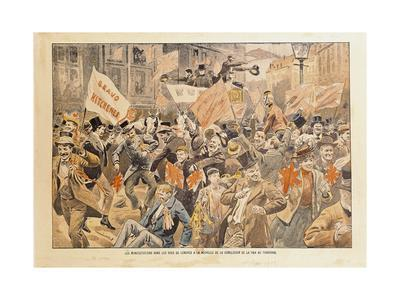 Celebrations in the Streets of London Following the News of Conclusion of Peace in the Transvaal--Giclee Print