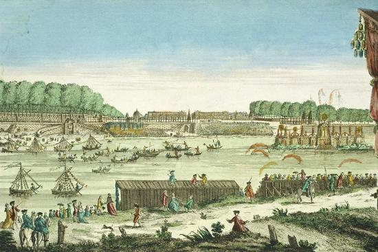 Celebrations on the Water to Mark the Beginning of Peace and the End of the Seven Year War, 1763--Giclee Print
