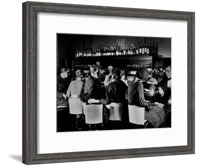 Celebrity Patrons Enjoying Drinks at This Speakeasy Without Fear of Police Prohibition Raids-Margaret Bourke-White-Framed Premium Photographic Print