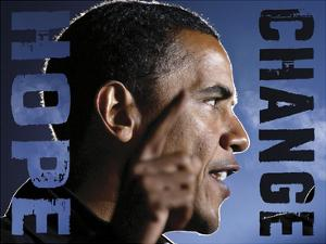 Barack Obama: Hope, Change by Celebrity Photography