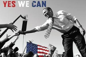 Barack Obama: Yes We Can (crowd) by Celebrity Photography
