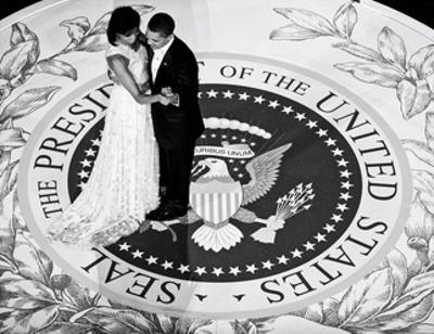 President Obama and The First Lady (b/w)