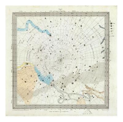 Celestial Anno 1830: No. 6. Circumjacent the South Pole, c.1844--Art Print