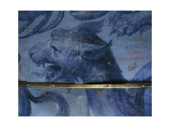 Celestial Globe, Detail: Hydra, 1683-Vincenzo Coronelli-Giclee Print