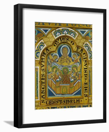 Celestial Jerusalem, Enamel, Verdun Altar, Begun 1181-Nicholas of Verdun-Framed Giclee Print