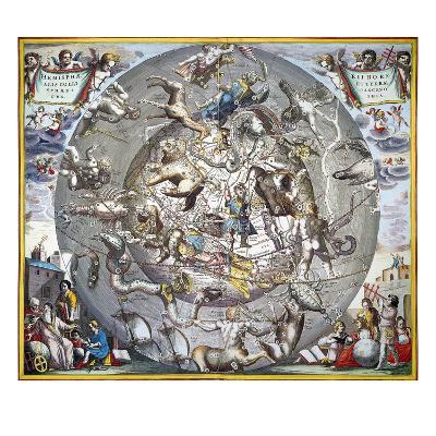Celestial Planisphere, 1660-Andreas Cellarius-Giclee Print
