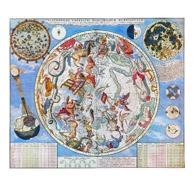 Celestial Planisphere-Carel Allard-Giclee Print
