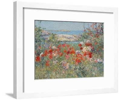 Celia Thaxter's Garden, Isles of Shoals, Maine, 1890-Childe Hassam-Framed Giclee Print