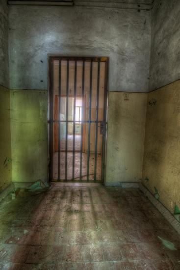 Cell with Metal Door-Nathan Wright-Photographic Print
