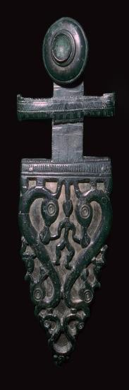 Celtic bronze belt-hook. Artist: Unknown-Unknown-Giclee Print