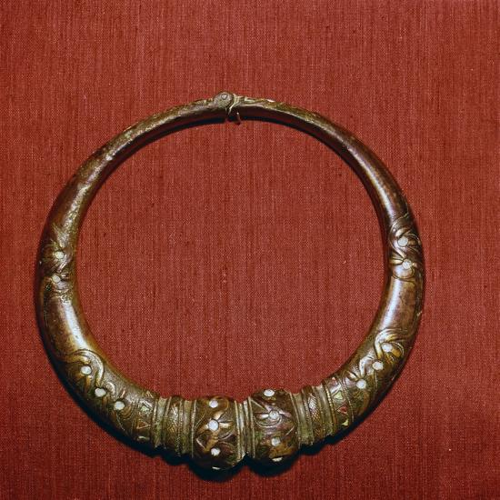 Celtic Bronze collar, (Torc) from Roxburghshire, Scotland, c1st Century-Unknown-Giclee Print