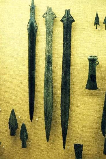 Celtic Bronze Iron Age Sword-Blades from Rive Seine at Paris, c800BC-Unknown-Giclee Print