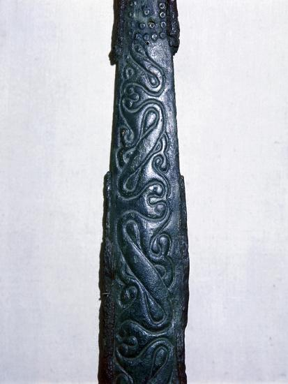 Celtic bronze & iron sword scabbard, North Italy, late 4th century BC. Artist: Unknown-Unknown-Giclee Print
