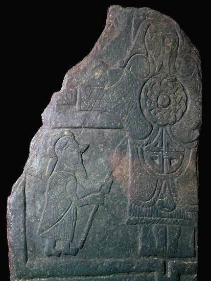Celtic Calf of Man Crucifixion slab, 8th century. Artist: Unknown-Unknown-Giclee Print