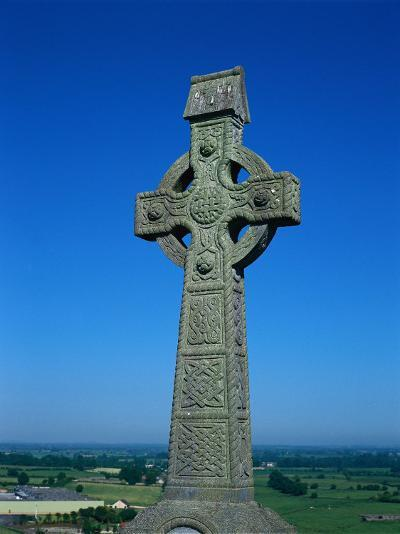 Celtic Cross with Knotted Desings, 7th Century, Ireland-Claire Rydell-Photographic Print