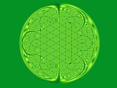 Celtic Fractal Pattern on Green Background-Albert Klein-Photographic Print