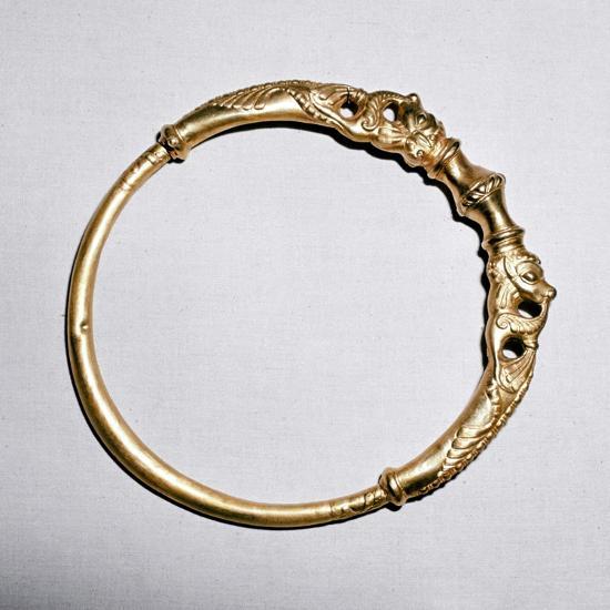 Celtic gold torc, Ersfield, Switzerland, 5th - 4th century BC. Artist: Unknown-Unknown-Giclee Print