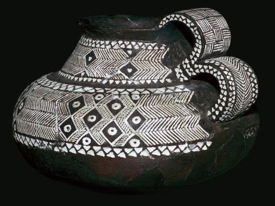 Celtic jug with double handles and volute decorations, 8th century BC. Artist: Unknown-Unknown-Giclee Print