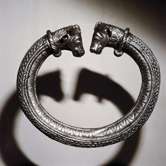 Celtic silver torc, Stuttgart, Germany, 2nd century BC. Artist: Unknown-Unknown-Giclee Print