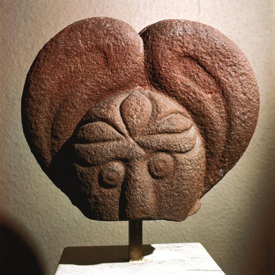 Celtic stone head, Heidelberg, Germany, c5th - 4th century BC. Artist: Unknown-Unknown-Giclee Print
