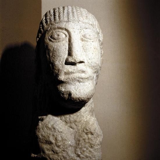 Celtic stone head, Salzburg, Austria, 1st century BC - 1st century. Artist: Unknown-Unknown-Giclee Print