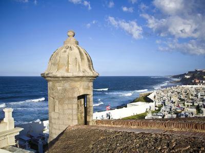 Cemetary, Fort San Felipe Del Morro, San Juan, Puerto Rico, USA, Caribbean-Miva Stock-Photographic Print