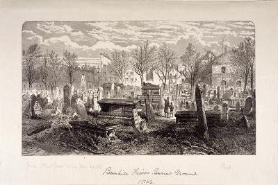 Cemetery at Bunhill Fields, Finsbury, London, 1866--Giclee Print