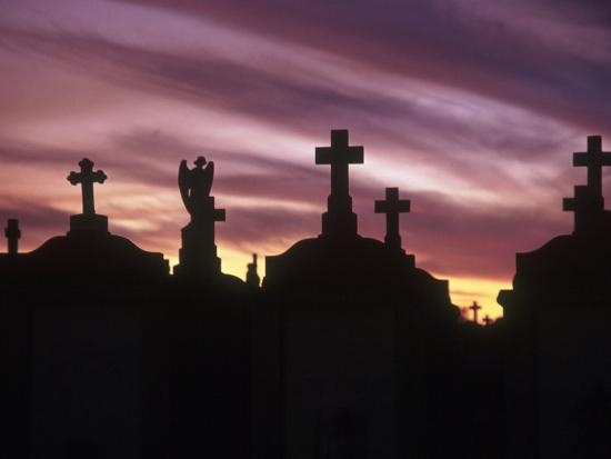 Cemetery at Sunset, New Orleans, Louisiana-Kevin Leigh-Photographic Print