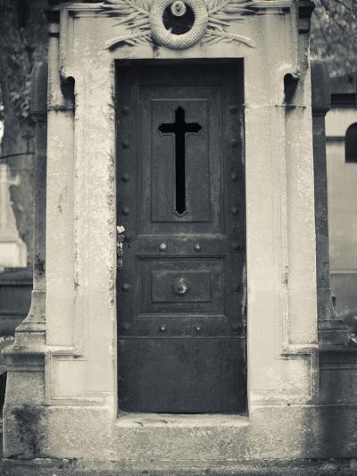 Cemetery Detail, Montparnasse Cemetery, Paris, France-Walter Bibikow-Photographic Print