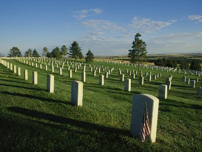 Cemetery, Little Bighorn Battlefield National Monument, Montana-Michael S^ Lewis-Photographic Print