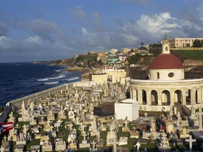 Cemetery on the Coast in the City of San Juan, Puerto Rico, USA, West Indies-Mawson Mark-Photographic Print