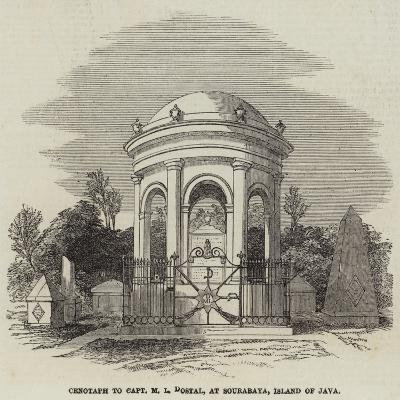 Cenotaph to Captain M L Dostal, at Sourabaya, Island of Java--Giclee Print