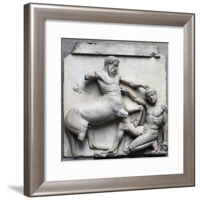 Centauromachy Scene, Metope 30 on South Side of Parthenon, 447-433 BC Greek Civilization--Framed Giclee Print