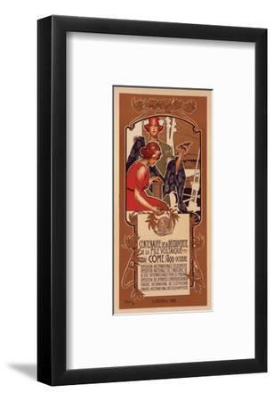 Centenaire de la Pile Voltaique-Adolfo Hohenstein-Framed Art Print
