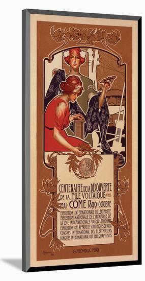 Centenaire de la Pile Voltaique-Adolfo Hohenstein-Mounted Art Print